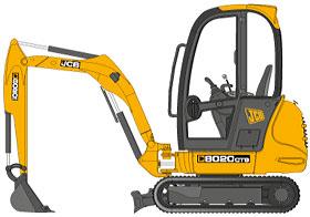 technische-zeichnung-jcb-minibagger-8020